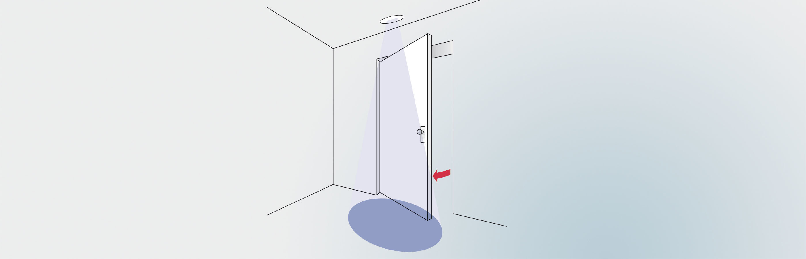 Merkur 2 microwave motion detector opens a swing door