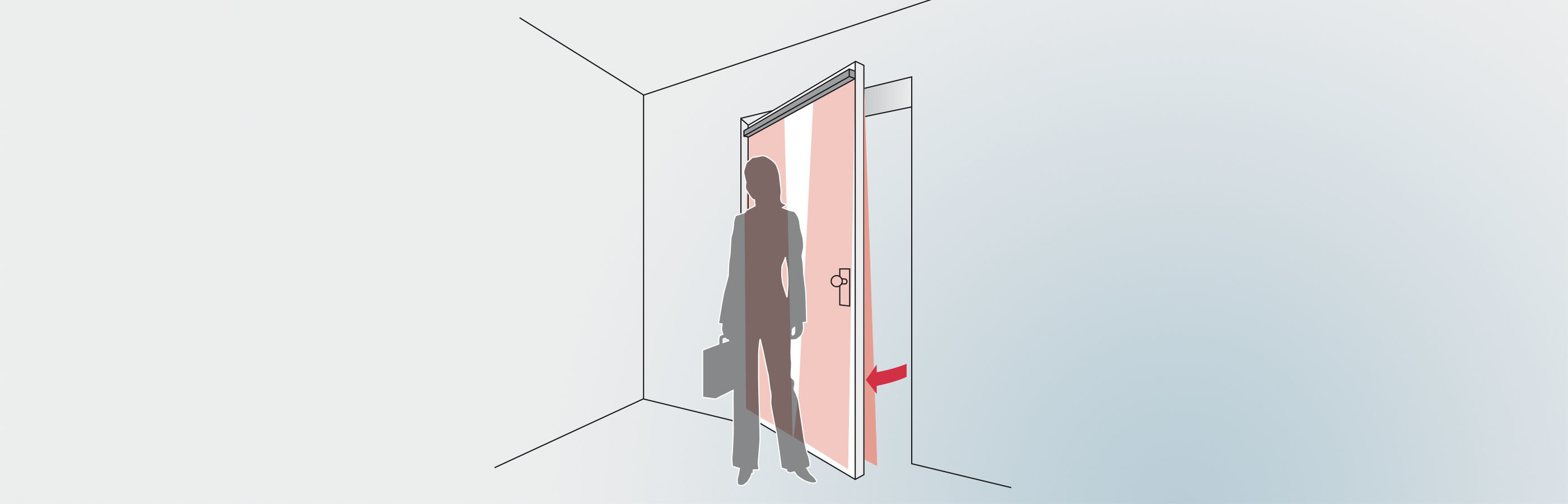 UniScan presence detector secures the swing door
